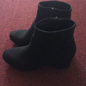 Black booties in size 6.5 from Merona